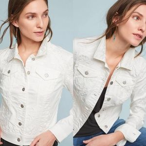 Pilcro and the Letterpress White Embroider Jacket